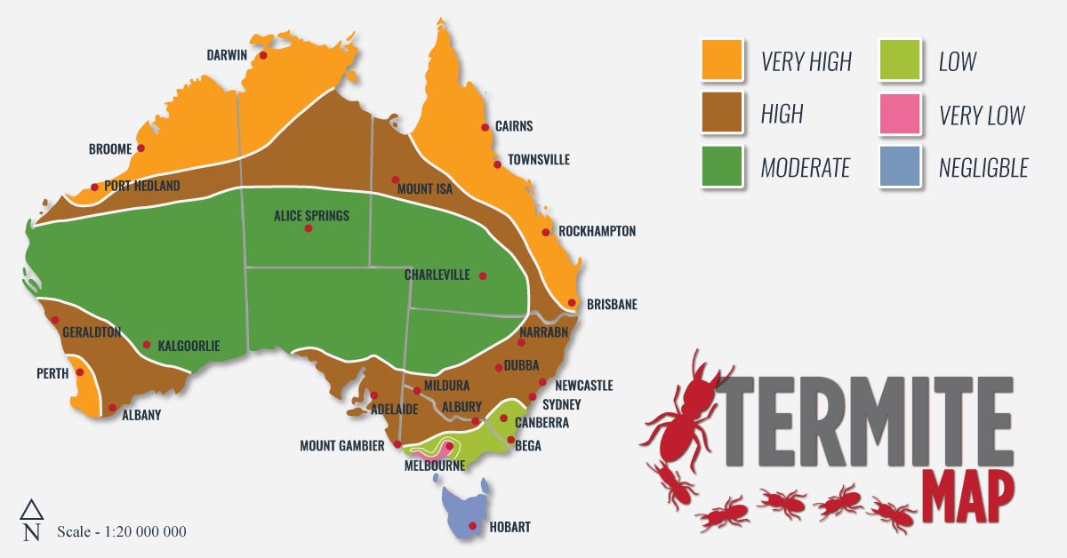 Termite Map Cure All Pest Control - Us termite map