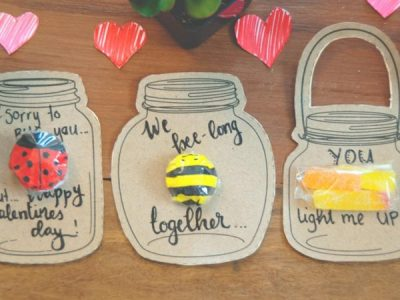 Make your Own Valentine's Day Love Bug Jar
